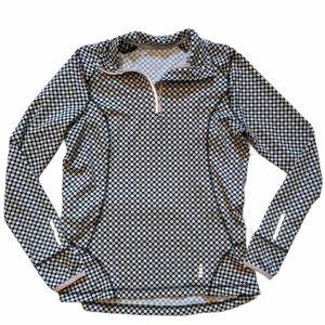 LANDS' END Women's Polka Dot Athletic Sweatshirt
